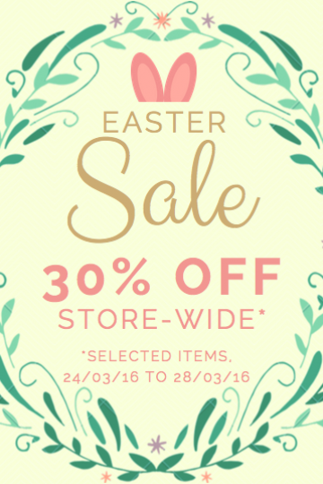 Easter egg 30% off sale